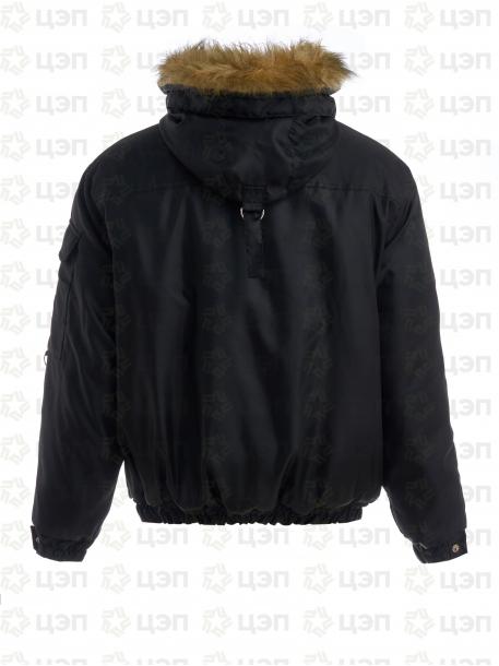 Куртка зимняя Аляска зимняя короткая черная