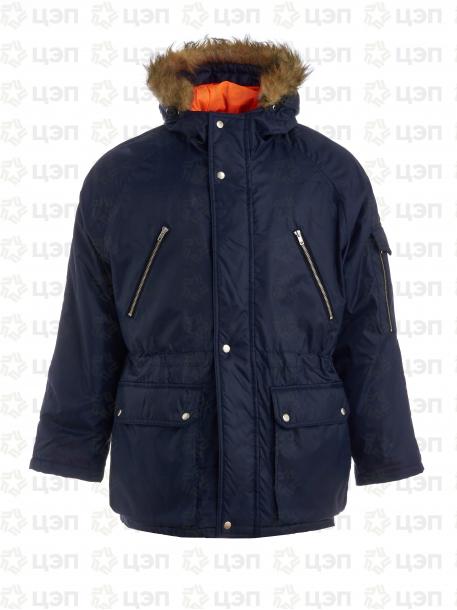 Куртка Аляска зимняя темно-синяя