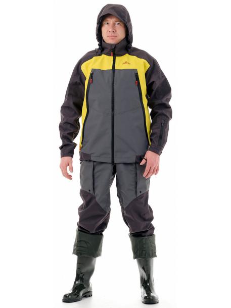 Фиш Про костюм (таслан, т.серо-желтый)