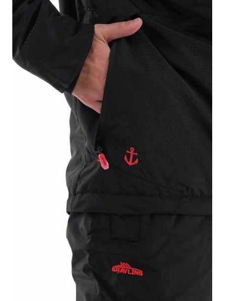 Магеллан NEW костюм (нейлон, черно-красный) с вышивкой