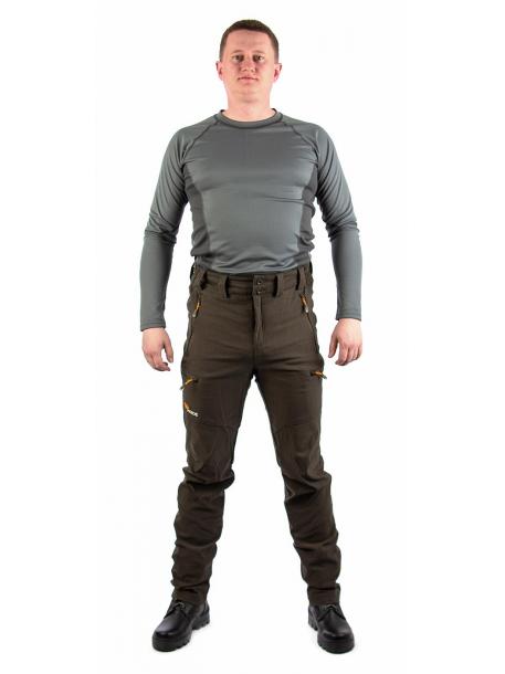 Манул брюки (смесовая, коричневый)