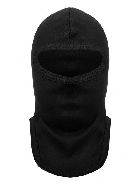Подшлемник трикотажный (интерлок) черный, вырез – глаза, хлопок
