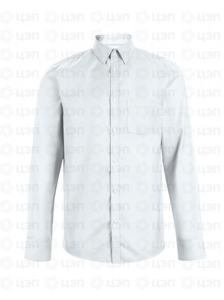 Рубашка охранника классическая с длинным рукавом белая