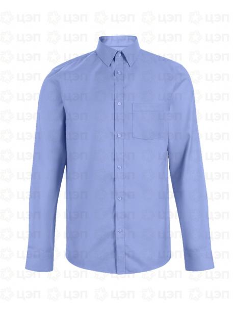 Сорочка классическая с длинным рукавом голубая