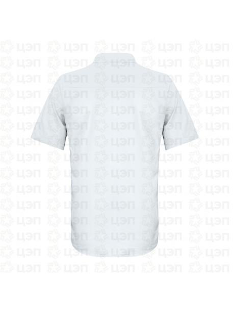 Рубашка охранника классическая с коротким рукавом белая