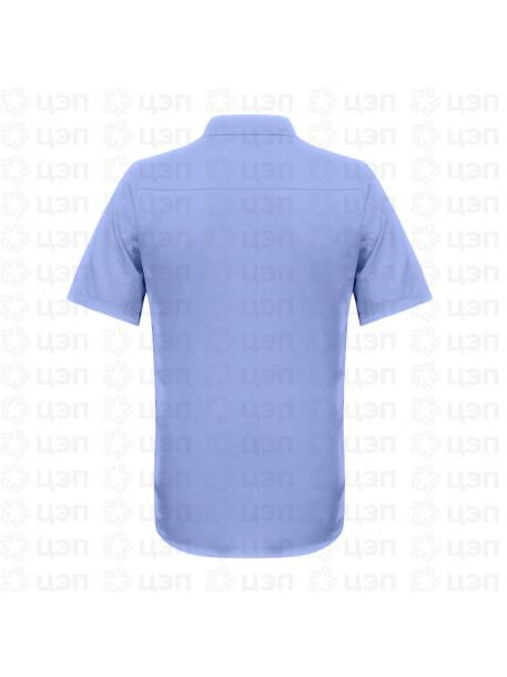 Рубашка охранника классическая с коротким рукавом голубая