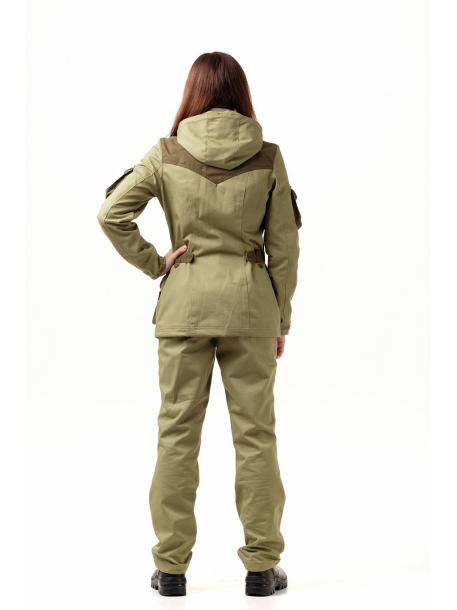 Зена женский костюм (хлопок, песок)